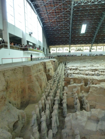 Terracotta Army from the side